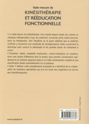 Vade-mecum de kinesitherapie et de reeducation fonctionnelle, 7e ed - 4ème de couverture - Format classique