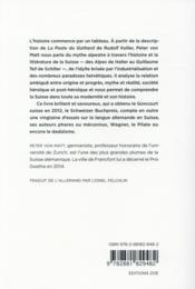 La poste du Gothard ou les états d'âme d'une nation (la) - 4ème de couverture - Format classique