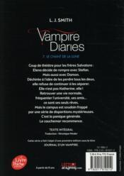 Journal d'un vampire t.7 ; le chant de la lune - 4ème de couverture - Format classique