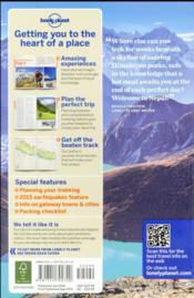 Trekking in the Nepal Himalaya (10e édition) - 4ème de couverture - Format classique