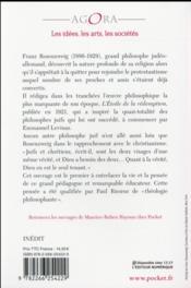 Franz Rosenzweig ; une introduction - 4ème de couverture - Format classique