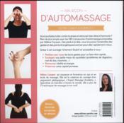 Ma leçon d'automassage ; 240 manoeuvres expliquées et illustrées - 4ème de couverture - Format classique