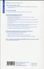 LES CAHIERS DE L'ARBITRAGE ; 2015 t.4 - 4ème de couverture - Format classique