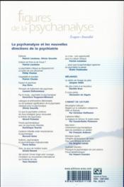 Revue figures de la psychanalyse N.31 ; les liens entre la psychanalyse et la psychiatrie sont-ils encore de solidarité ? - 4ème de couverture - Format classique