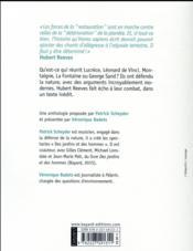 Écoutons la nature ; de Lucrèce à Hubert Reeves - 4ème de couverture - Format classique