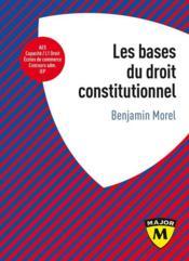 Les bases du droit constitutionnel - Couverture - Format classique