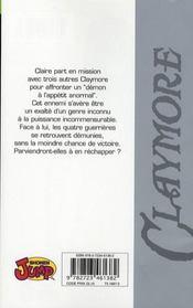 Claymore T.7 ; les qualifications des guerrières - 4ème de couverture - Format classique