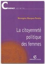 La citoyenneté politique des femmes - Couverture - Format classique