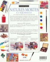 Natures Mortes A L'Aquarelle - 4ème de couverture - Format classique