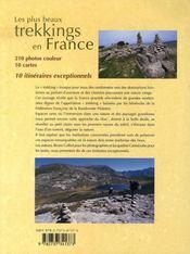 Les plus beaux trekkings en france - 4ème de couverture - Format classique