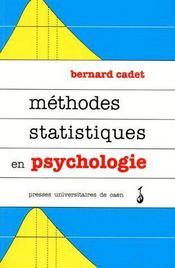 Méthodes statistiques en psychologie - Couverture - Format classique