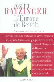 L'Europe de Benoît dans la crise des cultures - Intérieur - Format classique