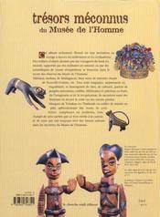 Tresors Meconnus Du Musee De L'Homme Dans Le Secret Des Objets Et Des Mondes - 4ème de couverture - Format classique