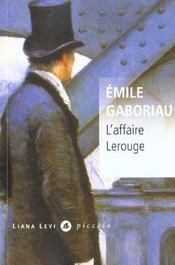 L'affaire Lerouge - Intérieur - Format classique