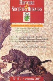 REVUE HISTOIRE ET SOCIETES RURALES N.19 ; les élites locales et la terre à l'époque romaine - Intérieur - Format classique