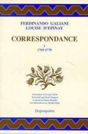 Correspondance Tome I (1769-1770) - Couverture - Format classique