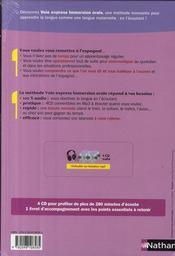 Pack 3 CD ; espagnol ; immersion orale (édition 2009) - 4ème de couverture - Format classique