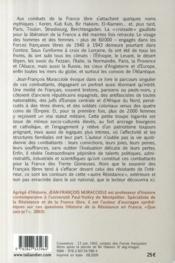 Les Français libres ; l'autre résistance - 4ème de couverture - Format classique
