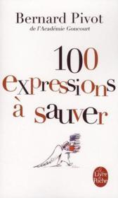 100 expressions à sauver - Couverture - Format classique