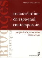 Correlation en espagnol contemporain - Couverture - Format classique