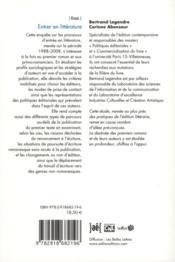 Entrer en littérature ; premiers romans et primo-romanciers dans les limbes - 4ème de couverture - Format classique