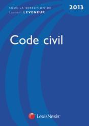 Code civil (édition 2013) - Couverture - Format classique