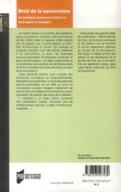 Droit de la concurrence - 4ème de couverture - Format classique