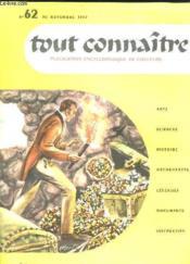 Tout Connaitre N° 62 Du 30 Novembre 1957. Le Comte De Monte Cristo. - Couverture - Format classique