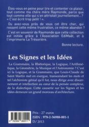 Les signes et les idées - 4ème de couverture - Format classique