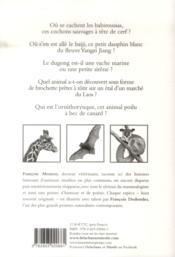 Histoires remarquables ; les animaux - 4ème de couverture - Format classique