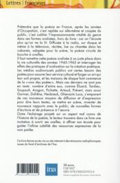 Poesie hors du livre tp - 4ème de couverture - Format classique