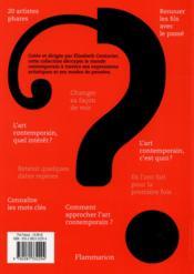 Art contemporain ; le guide - 4ème de couverture - Format classique