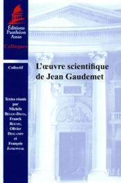 L'oeuvre scientifique de Jean Gaudemet - Couverture - Format classique