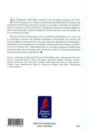 L'oeuvre scientifique de Jean Gaudemet - 4ème de couverture - Format classique