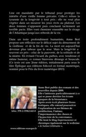 Épilogue selon Marguerite - 4ème de couverture - Format classique