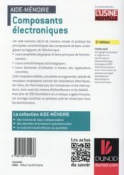 Aide-mémoire des composants électroniques (5e édition) - 4ème de couverture - Format classique
