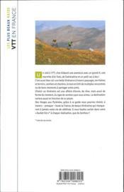 Les plus beaux raids VTT en France - 4ème de couverture - Format classique