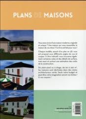 Plans de maisons ; inspirations modernes et originales - 4ème de couverture - Format classique