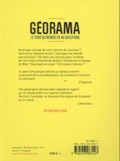 Georama - 4ème de couverture - Format classique