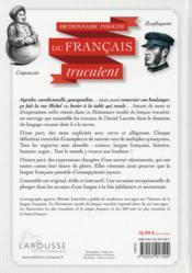 Les expressions et les mots les plus trucculents de la langue française - 4ème de couverture - Format classique