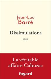 Dissimulations - Couverture - Format classique