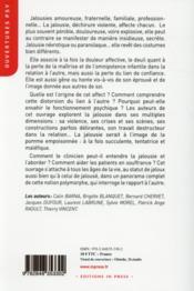 Jalousie(s) ; un affect en suffrance, une souffrance de l'affect - 4ème de couverture - Format classique