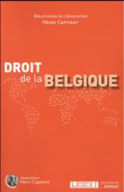 Droit de la Belgique - Couverture - Format classique