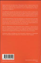 Droit de la Belgique - 4ème de couverture - Format classique