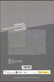 Adivinos, médicos y profesores de secretos en la España aurea - 4ème de couverture - Format classique