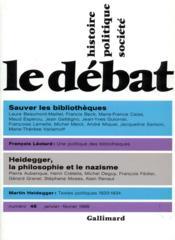 Revue Le Débat N.48 - Couverture - Format classique