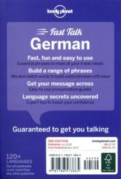 FAST TALK ; German (3e édition) - 4ème de couverture - Format classique