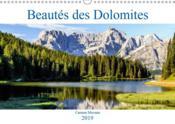 Beautes des dolomites (calendrier mural 2019 din a3 horizontal) - les paysages des dolomites, ces mo - Couverture - Format classique