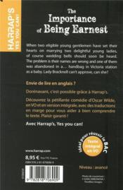 The importance of being Earnest - 4ème de couverture - Format classique