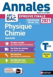 Annales ABC du bac ; sujets & corrigés T.24 ; physique-chimie : terminale (édition 2020) - Couverture - Format classique